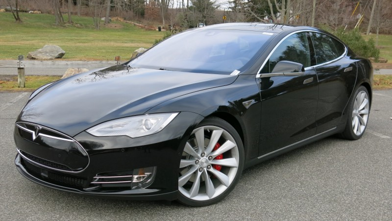 Tesla P85D, electric cars, Tesla Motors, sports car, black, side, speed, review, test drive (horizontal)