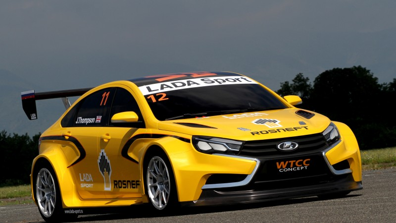 Lada Vesta WTCC, sports car, Lada Vesta, review, test drive, 2015 cars, front (horizontal)