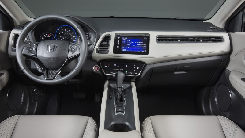 Honda HR-V, Vezel, 2015 cars, crossover, SUV, hybrid, ecosafe, review, test drive, interior (horizontal)