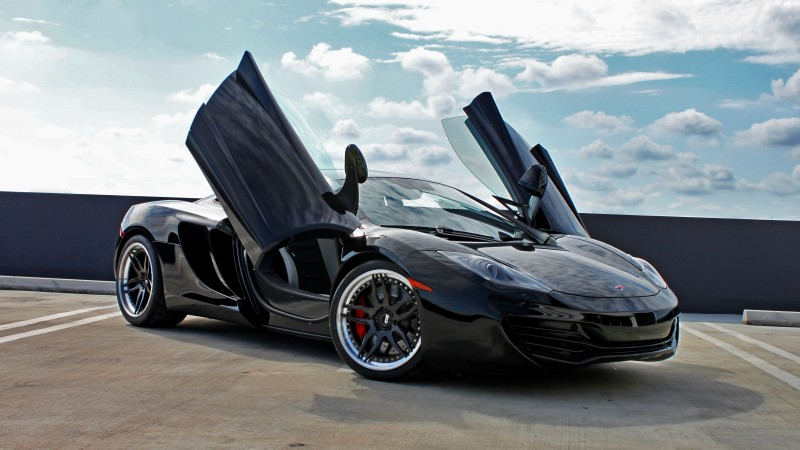 McLaren 12C, MP4-12C, supercar, luxury cars, sports car, test drive, review, doors, silver (horizontal)