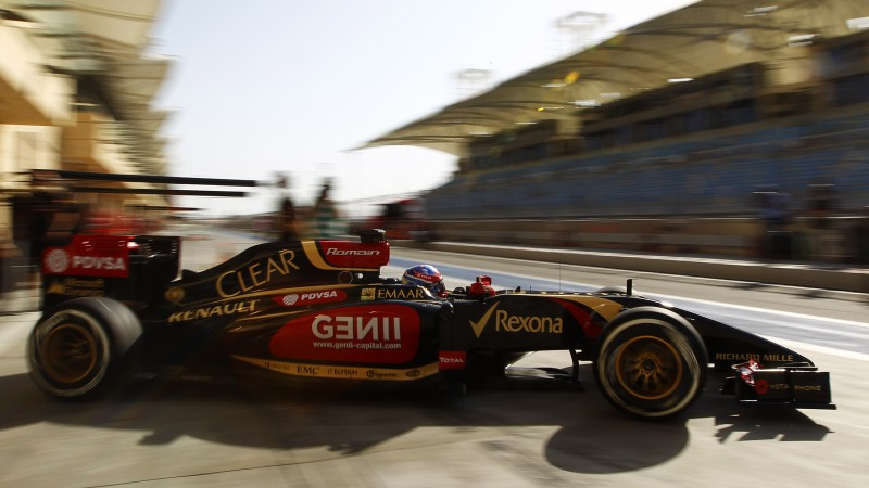 Lotus E22, Formula 1, F1, test drive, 2015, review, side, front, Bahrain, racing, sports car (horizontal)