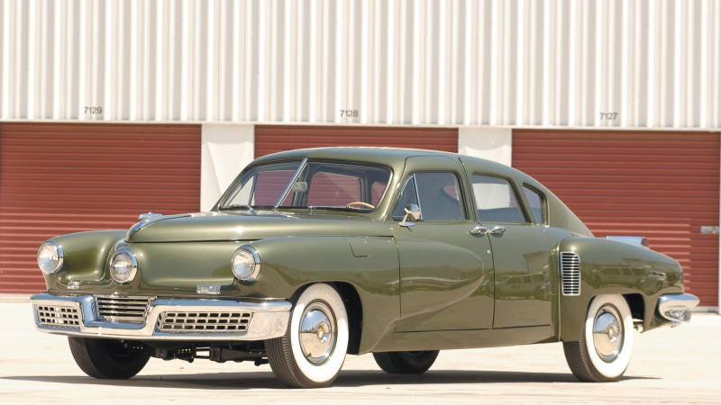 Tucker 48, classic cars, Preston Tucker, retro, green, front, side, buy, rent (horizontal)