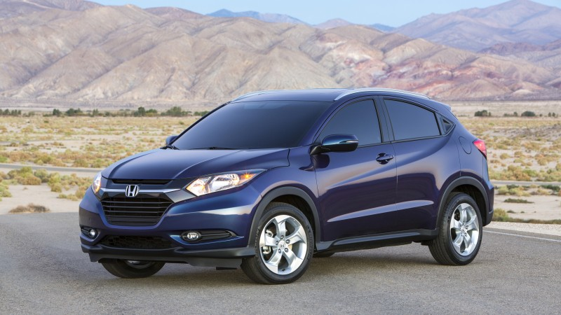 Honda HR-V, Vezel, 2015 cars, crossover, SUV, hybrid, ecosafe, review, test drive, side (horizontal)