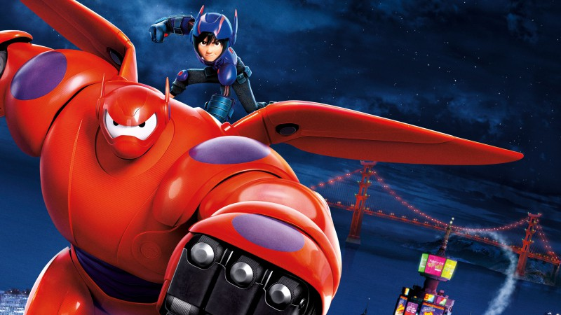 Big Hero 6, cartoon, Baymax, Hiro Hamada, flight, superhero, review, 3D, watch, HD, Best Animation Movies of 2015 (horizontal)