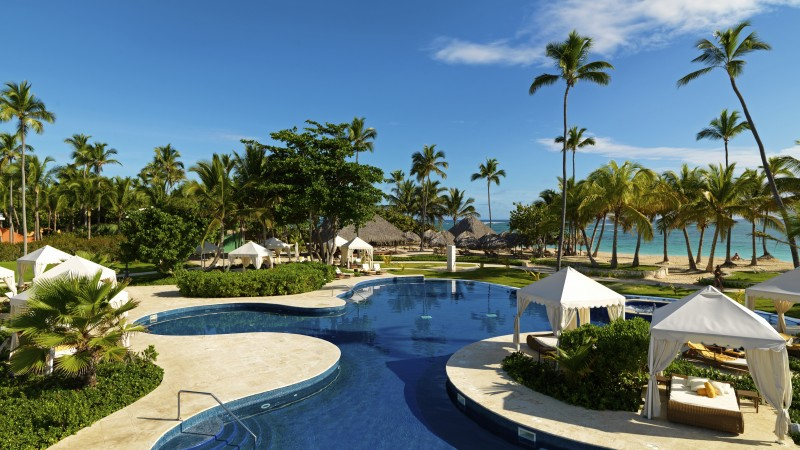 Beachfront Real Estate, Dominicana, Best Hotels of 2017, tourism, travel, resort, vacation, pool, palms (horizontal)