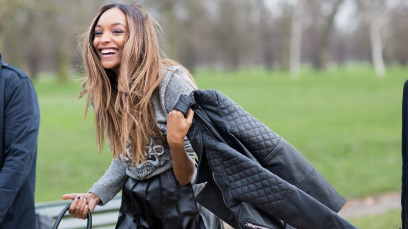 Jourdan Dunn, Top Fashion Models 2015, model, brunette, smile, Daniel Sturridge girlfriend (horizontal)