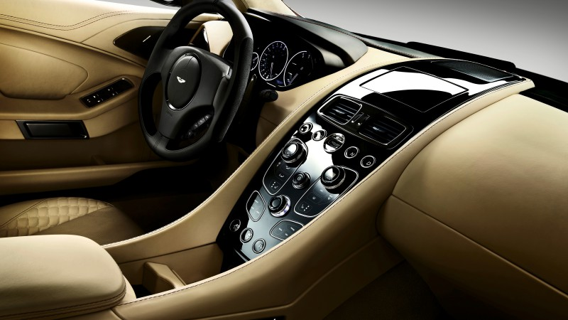Aston Martin Vantage, sports car, V12, v8, Zagato, silver, review, test drive, speed, interior (horizontal)