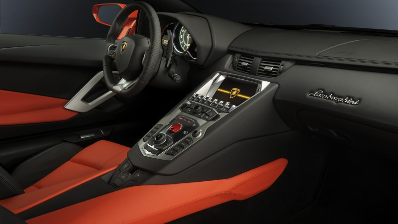 Lamborghini Aventador, supercar, interior, Lamborghini, luxury cars, sports car, red, test drive, buy, rent (horizontal)