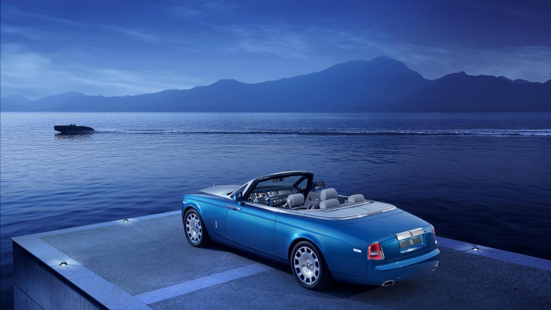 Rolls-Royce Phantom Drophead Coupe, cabriolet, water, supercar, luxury cars (horizontal)