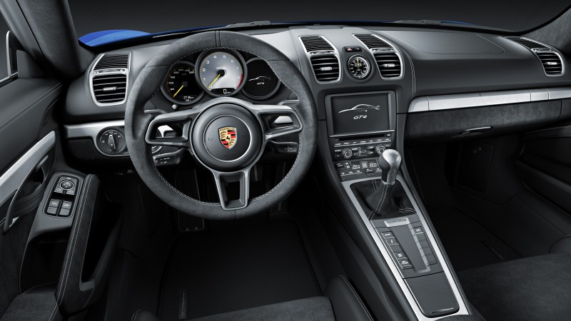 Porsche Cayman GT4, Best Cars 2015, sports car, luxury cars, review, test drive, interior (horizontal)