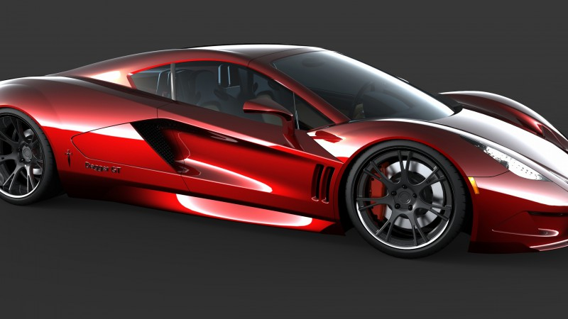 Transtar Dagger GT, supercar, sports car, luxury cars, review, test drive, Top Gear, side, red (horizontal)