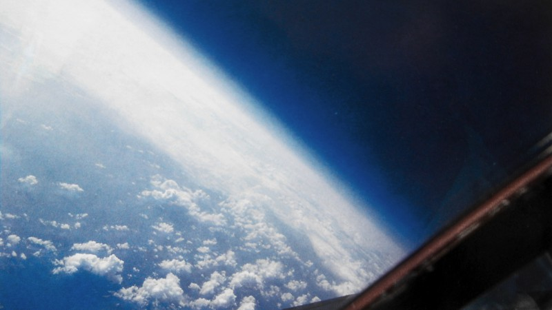 earth, space, clouds (horizontal)