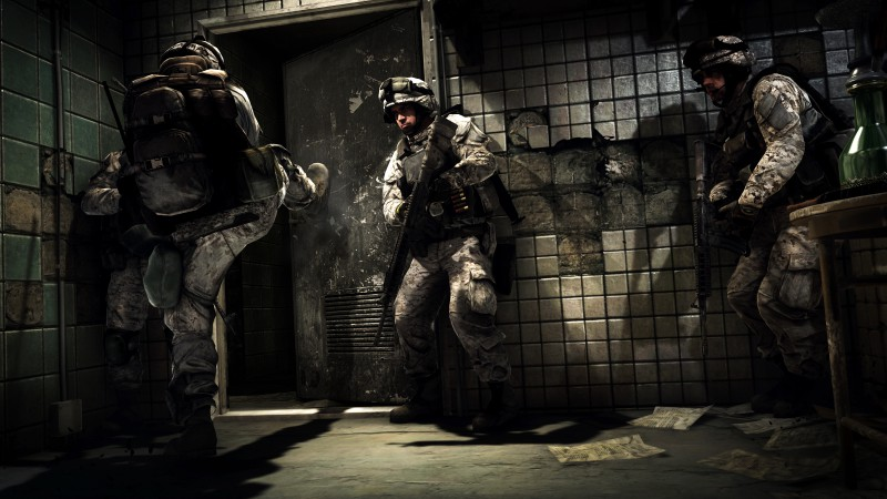 Battlefield 3, game, shooter, soldier, assault, gameplay, interface, screenshot, art (horizontal)