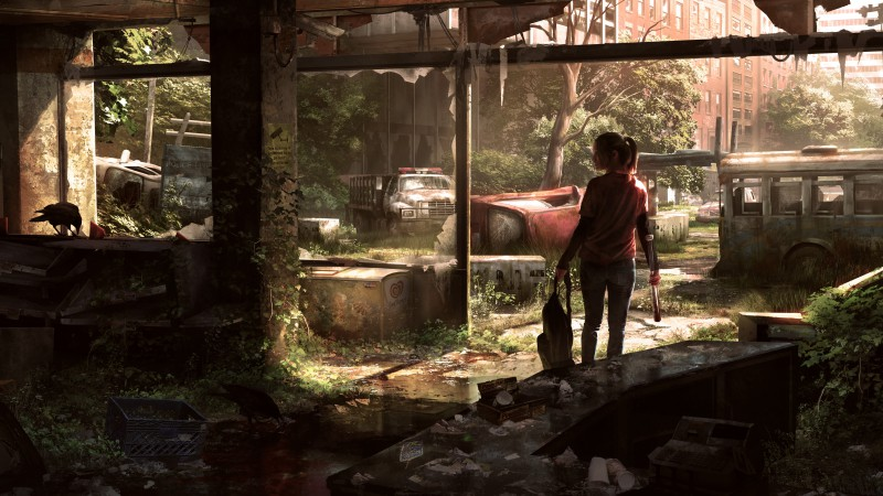 The Last of Us Remastered, game, survival horror, Ellie, Last of Us, art, Fireflies, zombie, zombie fungus (horizontal)