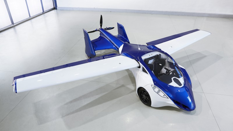 AeroMobil 3.0, concept, car, aircraft, flying car, prototype, runway, front, test drive (horizontal)