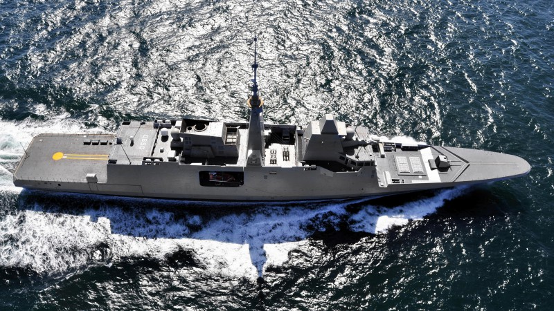 FREMM multipurpose frigate, French Navy, French Army (horizontal)
