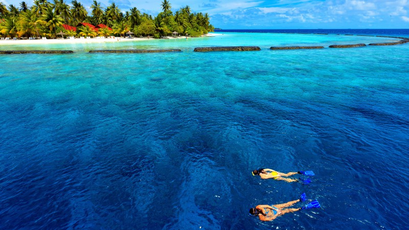 Baros Maldives, Male Attols, Best Hotels of 2017, Best Beaches in the World, tourism, travel, vacation, sea, ocean, water, sky, clouds, World's best diving sites (horizontal)