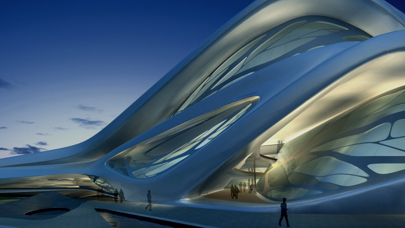 Abu Dhabi Performing Arts Center, UAE, tourism, travel, steel, glass (horizontal)