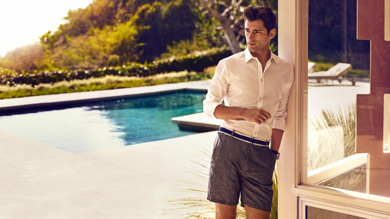 Sean O'Pry, Top Fashion Male Models, model, shorts, pool (horizontal)