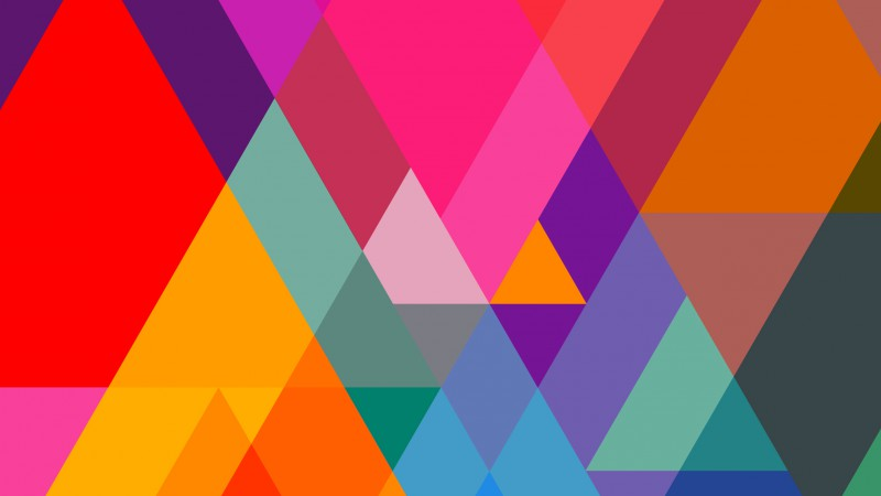 polygon, 4k, 5k wallpaper, iphone wallpaper, triangle, background, orange, red, blue, pattern (horizontal)