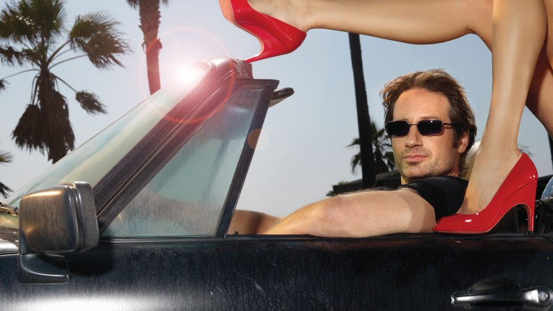 David Duchovny, Most Popular Celebs in 2015, actor, writer, director, Californication, car, shoes, glasses (horizontal)