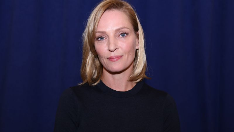 Uma Thurman, Most Popular Celebs in 2015, actress, model, American Dad, Kill Bill, Best International Actress, pool, white dress (horizontal)
