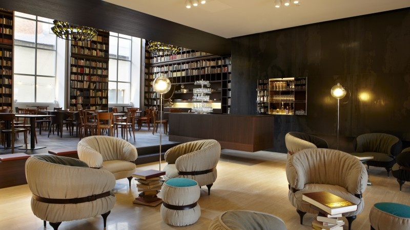 B2 Boutique Hotel and Spa, Zurich, Switzerland, Best Hotels of 2015, library, room, chair, booking (horizontal)