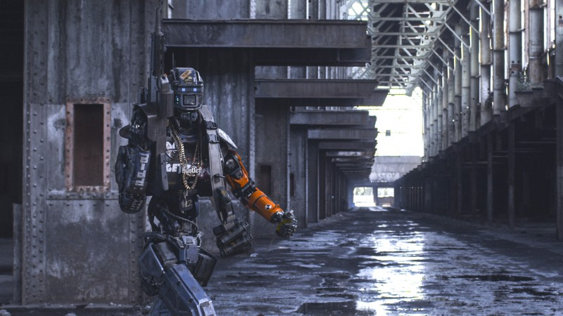 Chappie, Best Movies of 2015, Die Antwoord, robot, gun (horizontal)