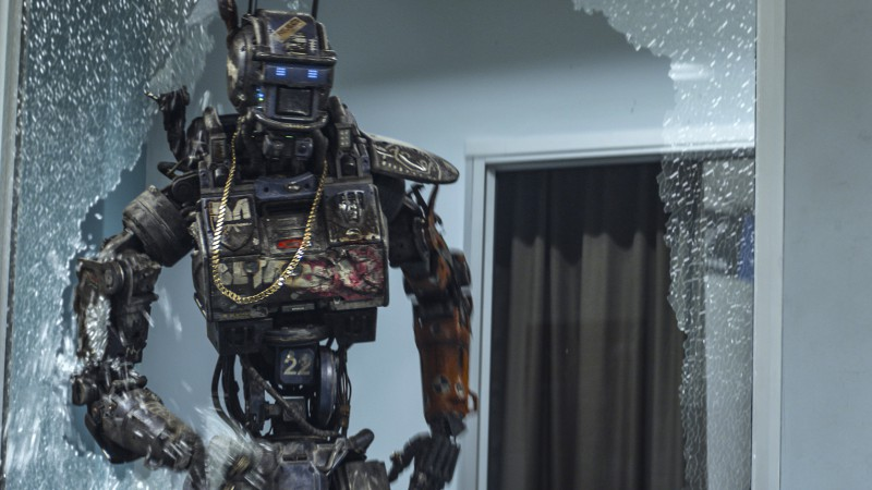 Chappie, Best Movies of 2015, wallpaper, robot, police, gun (horizontal)