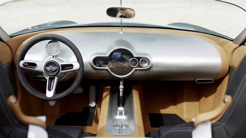Mini Superleggera Vision, concept, cabriolet, roadster, interior, cockpit, test drive (horizontal)