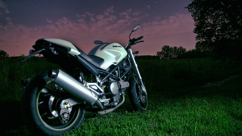 Ducati Monster 796, night sky, motorcycle, racing, bike, sport bike, review, test drive, buy, rent (horizontal)