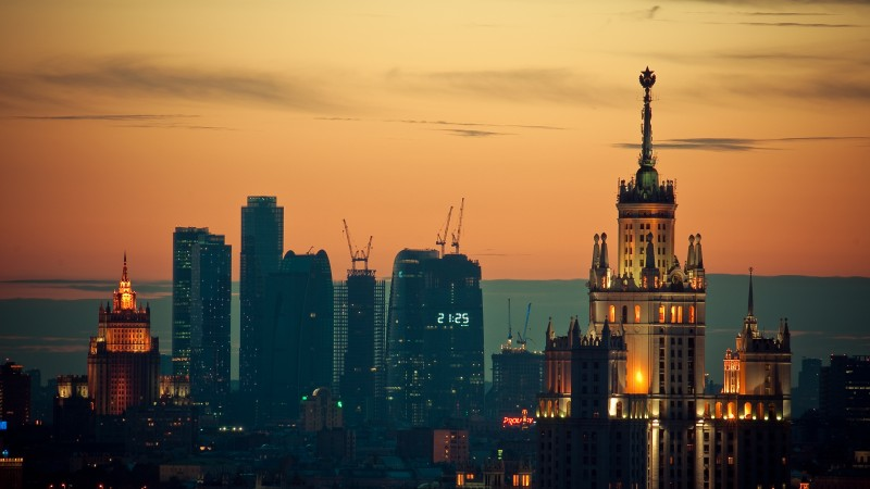 Moscow, Sunset, downtown, travel, sky (horizontal)