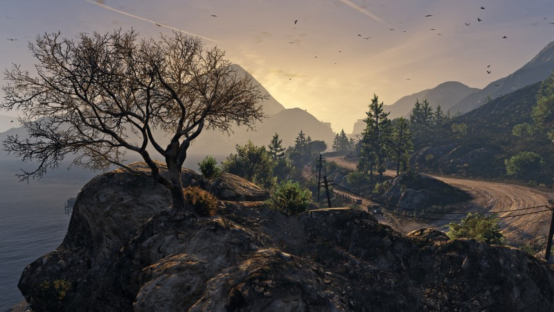 GTA 5, GTA V, Grand Theft Auto, game, country, screenshot, gameplay, review, PS4, Xbox One, PC (horizontal)