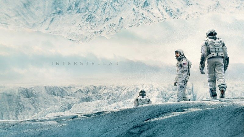 Interstellar, movie, matthew mcconaughey, space suit, snow, winter, white, sky (horizontal)