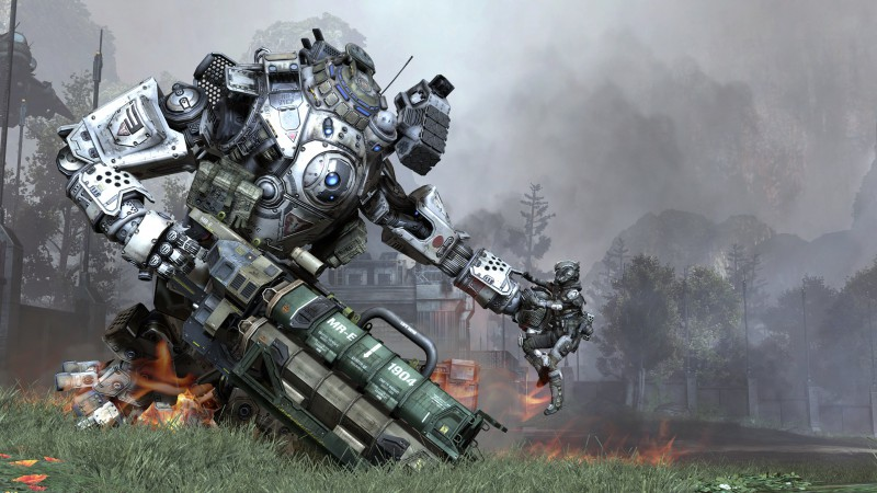 Titanfall, shooter, FPS, robot, creature, soldier, titan, Atlas, Ogre, Stryder, PC, Xbox One (horizontal)