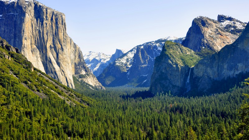 El Capitan, 5k, 4k wallpaper, Yosemite, forest, OSX, apple, mountains (horizontal)
