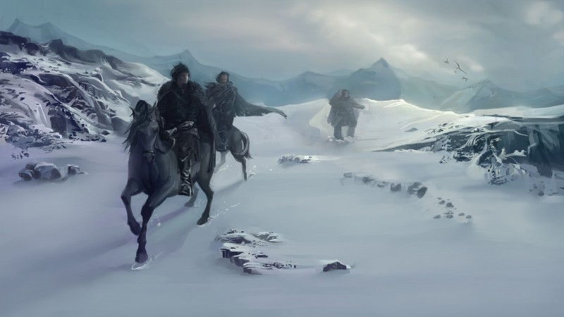 Game of Thrones, A Song of Ice and Fire, dragon, season 5, Best TV Series of 2015, fantasy, Jon Snow (horizontal)