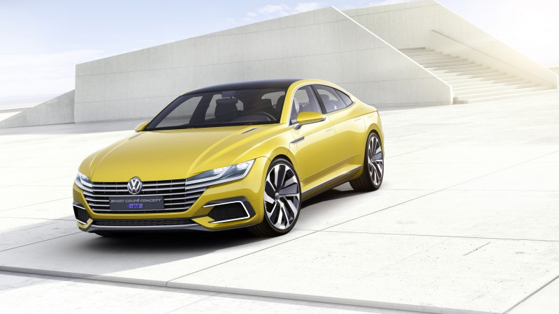 volkswagen Passat CC, coupe, yellow,  (horizontal)
