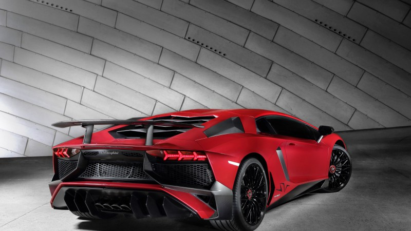 Lamborghini Aventador LP 750, Superveloce, coupe, red (horizontal)