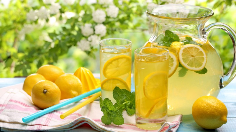 lemonade, drinks, cocktails, juice, summer, sun, , fruit, lemon, ice, honey (horizontal)