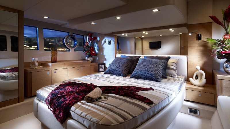 Sunseeker yacht Portofino 48, yacht, high-tech, bedroom (horizontal)