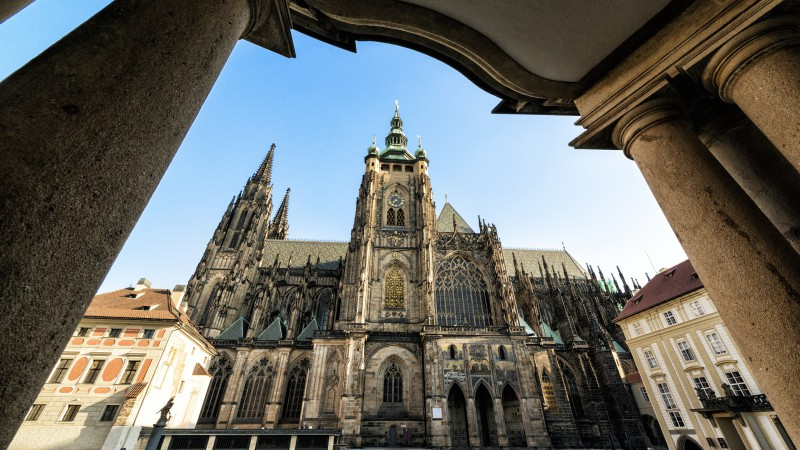 Cathedral of St Vitus, Prague, Castle, Czech Republic, travel, exterior, Gothic, Tours (horizontal)