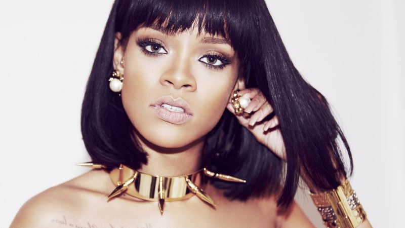 Rihanna, Top music artist and bands, singer, actress, red hair (horizontal)
