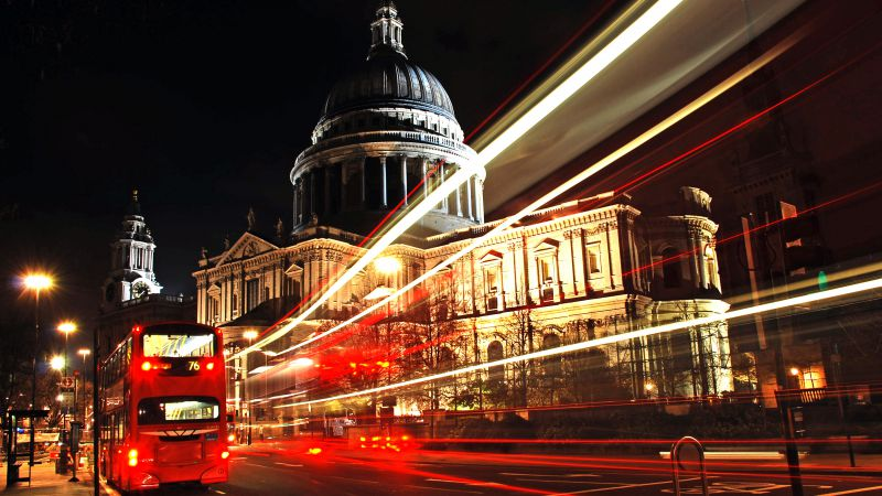 St Paul's Cathedral, London, England, Tourism, Travel, night (horizontal)