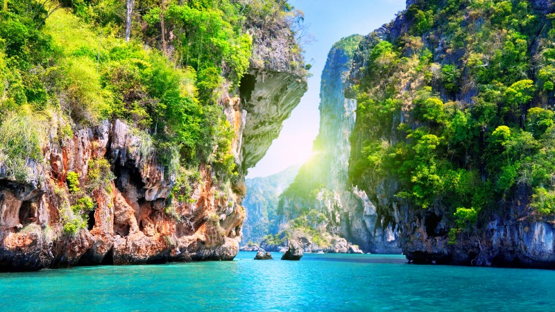 Thailand, 5k, 4k wallpaper, 8k, Pattaya, beach, ocean, mountains, World's best diving sites (horizontal)