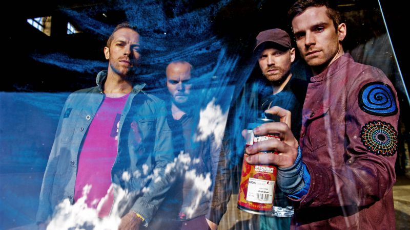 Coldplay, Top music artist and bands, Chris Martin, Jonny Buckland, Guy Berryman, Will Champion (horizontal)