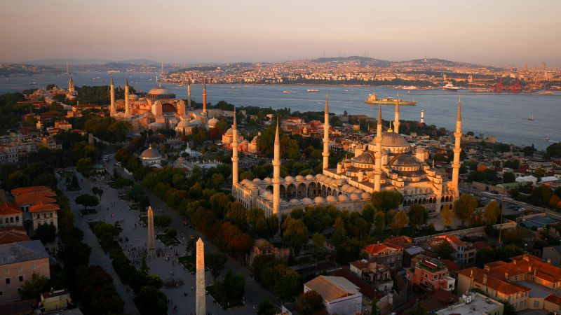 Blue Mosque, Istanbul, Turkey, Tourism, Travel (horizontal)