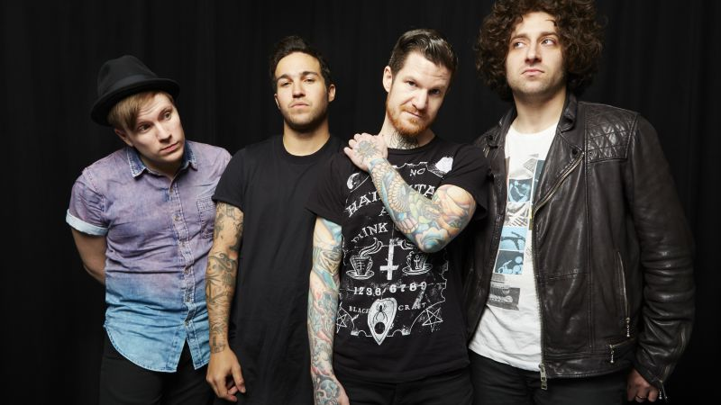 Fall Out Boy, Top music artist and bands, Patrick Stump, Peter Wentz, Joseph Mark Trohman, Andrew John Hurley (horizontal)