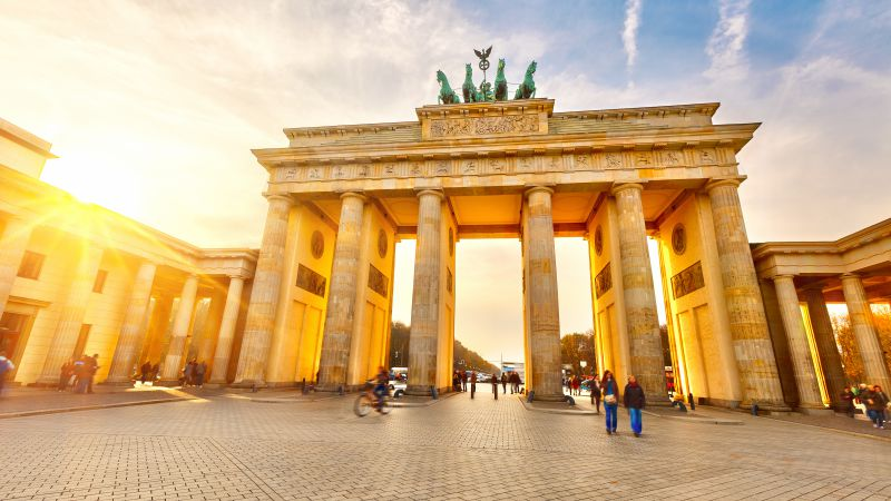 Brandenburg Gate, Berlin, Germany, Tourism, Travel (horizontal)