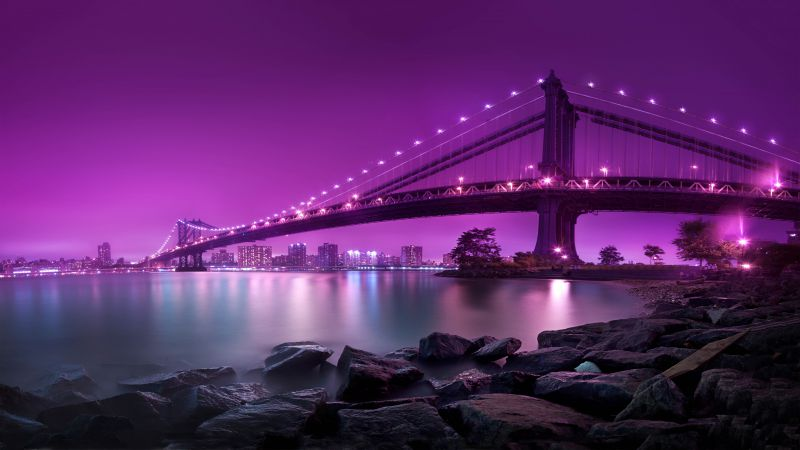 Manhattan Bridge, New York, Tourism, Travel (horizontal)